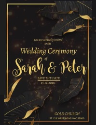 Wedding Template Flyer (Letter pang-US)