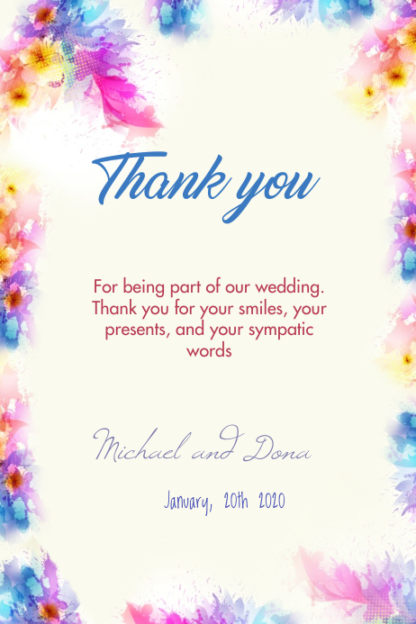 Wedding thank you 4