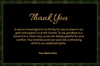 Wedding Thank You Card Label template