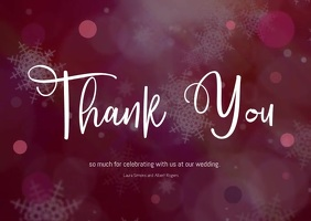wedding thank you card A6 template