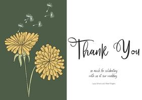 wedding thank you card A4 template
