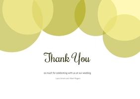 wedding thank you card A6 template