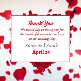 Wedding Thank you card for instagram template