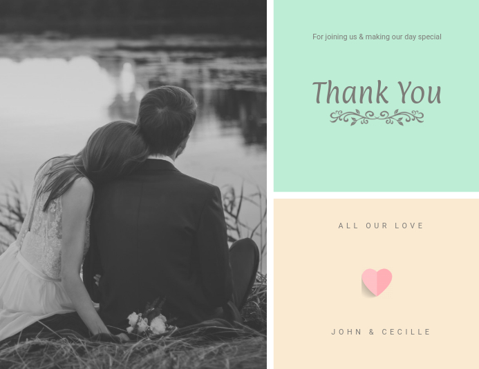 Wedding Thank You Card template PosterMyWall