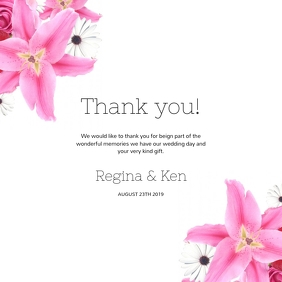 Wedding Thank you Card Template for instagram