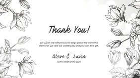 Wedding Thank You Digital card Template Display digitale (16:9)