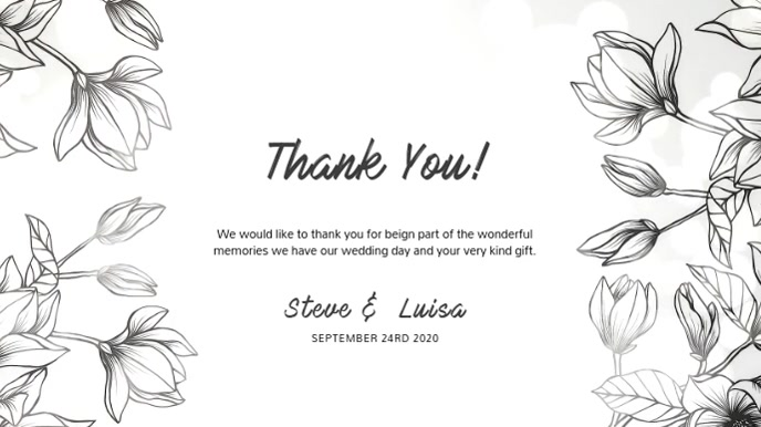 Wedding Thank You Digital card Template