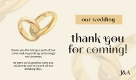 Wedding Thank You For Coming Tag template