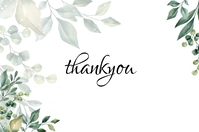 Wedding Thankyou Card Label template