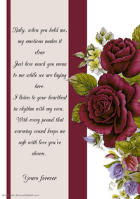 wedding valentines letter invitation