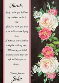 wedding valentines letter invitation