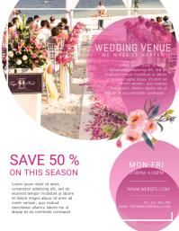 Wedding Venue Organizer Flyer Template