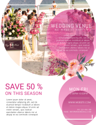 Wedding Venue Organizer Flyer Template