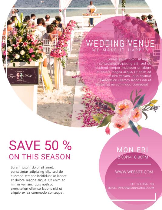 Wedding Venue Organizer Flyer Template | PosterMyWall