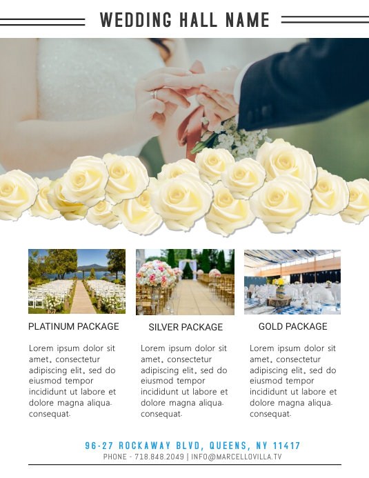 Wedding Venue Services Flyer Template Postermywall