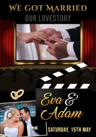 Wedding Video A4 template