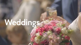 Wedding video poster template