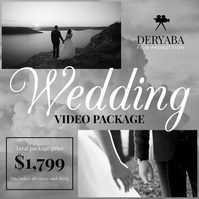 Wedding Video Promo Videographer Movie Square (1:1) template