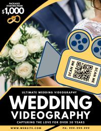 Wedding Videography Poster Iflaya (Incwadi ye-US) template
