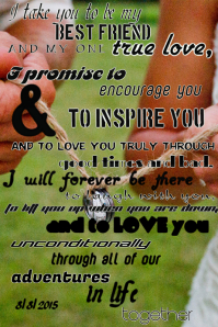 Wedding Vows Poster