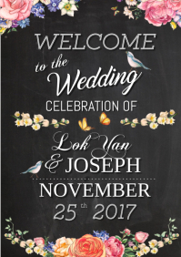wedding welcome board