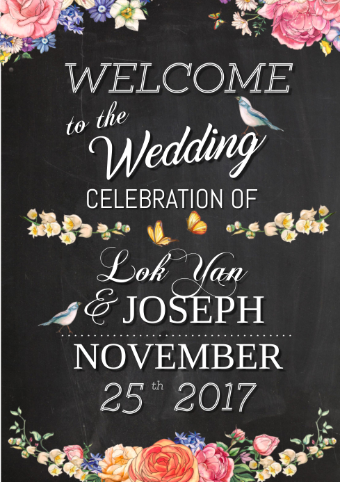Customizable Design Templates For Wedding Postermywall
