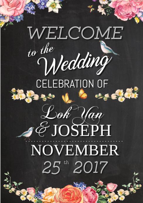 wedding welcome board