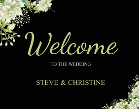wedding WELCOME card