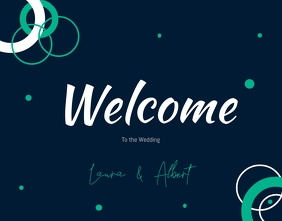 Wedding welcome wallboard Poster/Wallboard template