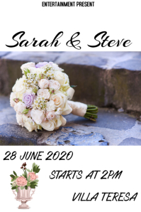 Weddings flyer template
