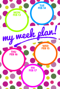 Week Plan Poster template