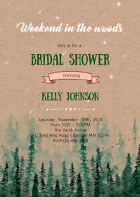 Weekend in the woods shower invitation