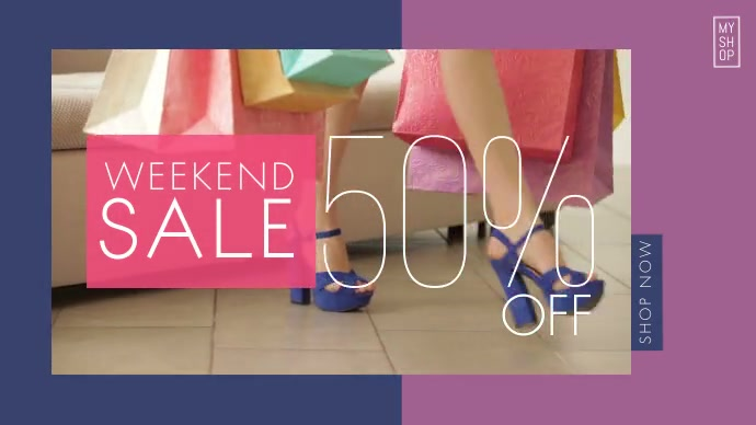 Weekend Sale Ad Publicación de Twitter template