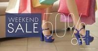 Weekend Sale Ad Imagem partilhada do Facebook template