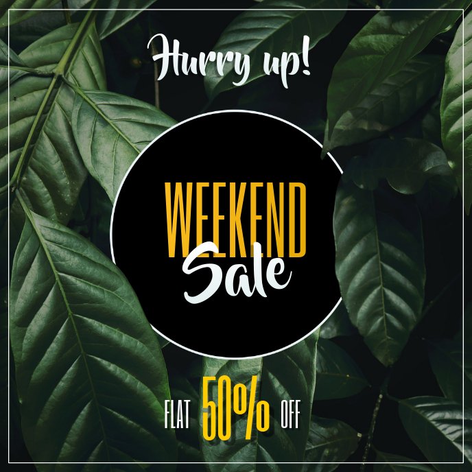 Weekend Sale Ad Template