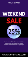 Weekend Sale Clearance Advert Roll up Banner