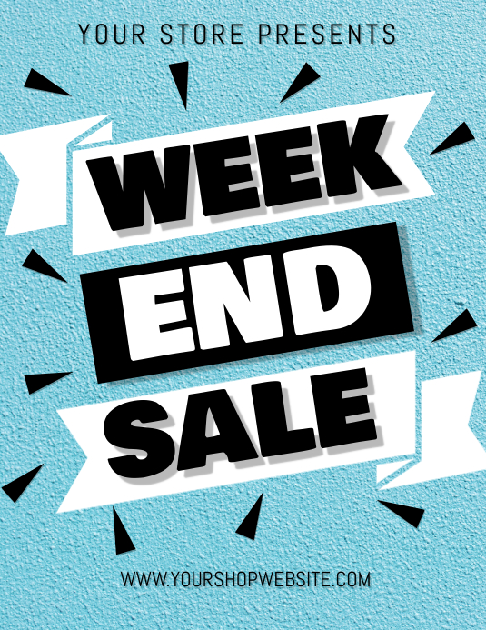 Weekend Sale Flyer (Letter pang-US) template