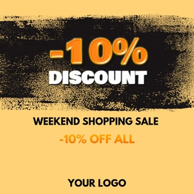 Weekend Sale Discount % Offer Special Shop Ad