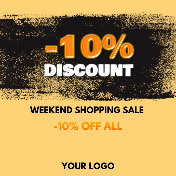 Weekend Discount: Weekend Sale Discount % Offer Special Shop Ad Template