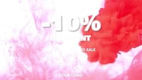 Weekend Sale Discount % Offer Special Shop Ad Видеообложка профиля Facebook (16:9) template