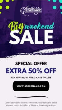 Weekend Sale Portrait Digital Display Video