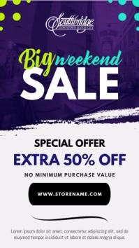 Weekend Sale Portrait Digital Display Video