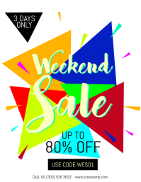 Weekend Sale Flyer