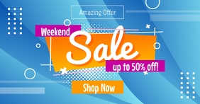 Weekend Sale Social Media Post Template Facebook Shared Image
