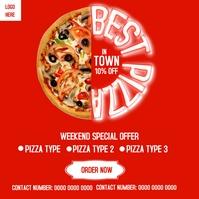 Weekend Special Pizza Deals Flyer Instagram P template