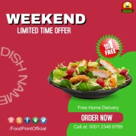 Weekend Special Restaurant Deal | Buy One Get Instagram Post template