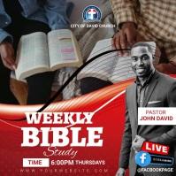 Weekly bible study Publicação no Instagram template