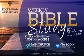 weekly bible study flyer Iphosta template