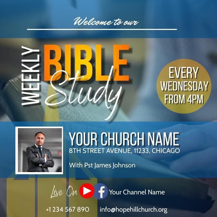 weekly bible study flyer Instagram 帖子 template