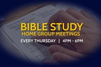 weekly bible study flyer Poster template